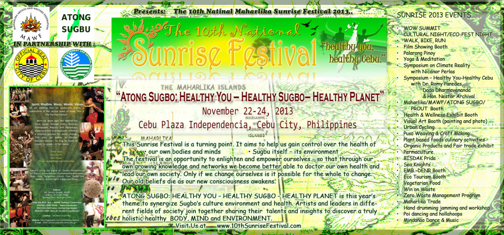 The 10th Maharlika Sunrise Festival 2013